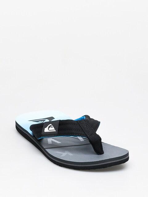 Quiksilver Molokai Layback Flip-flops (black/grey/blue)