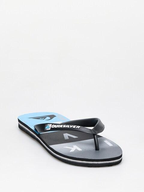 Quiksilver Molokai Wordblock Flip-flops (black/black/blue)
