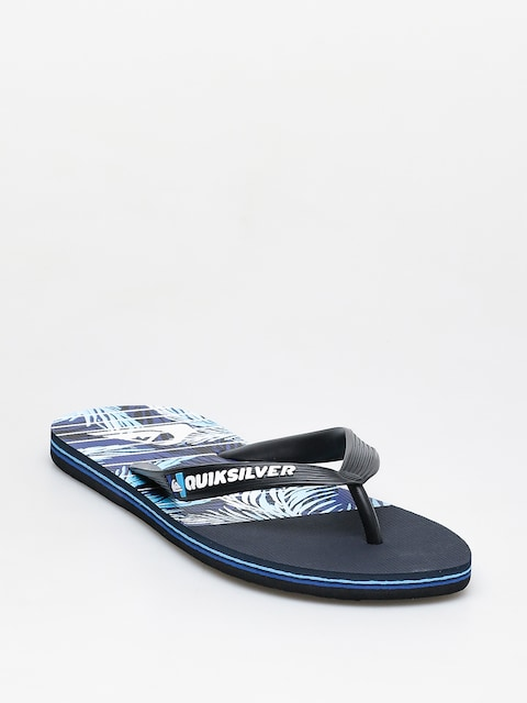 Quiksilver Molokai Drained Out Flip-flops (black/blue/blue)