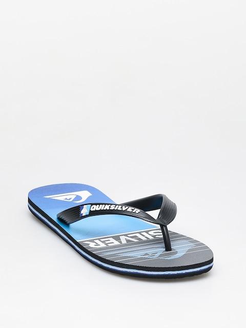 Quiksilver Molokai Highline Slab Flip-flops (black/black/blue)