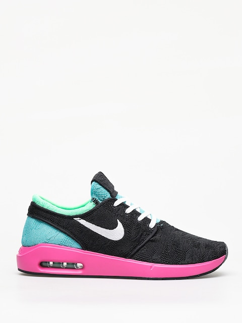 Nike SB Air Max Janoski 2 Shoes (black/white cabana electro green)