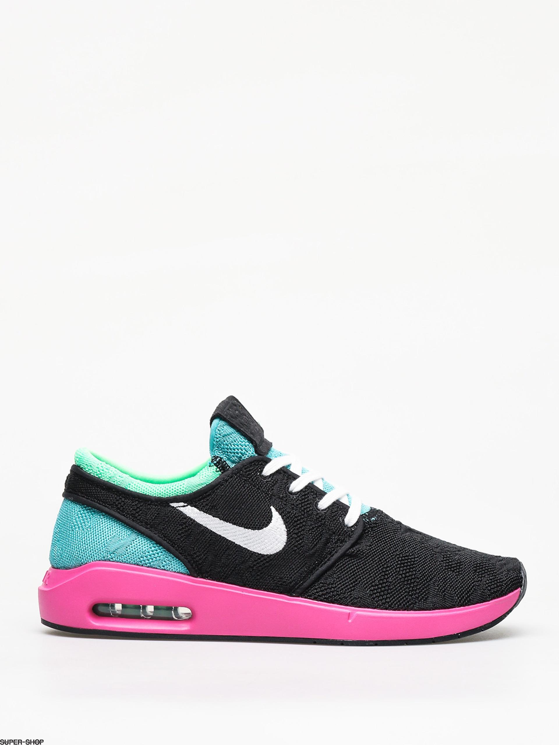 Nike SB Air Max Janoski 2 Shoes (blackwhite cabana electro green)