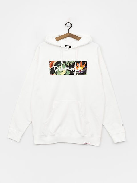 Diamond Supply Co. Paradise Box Logo Sweatshirt (white)