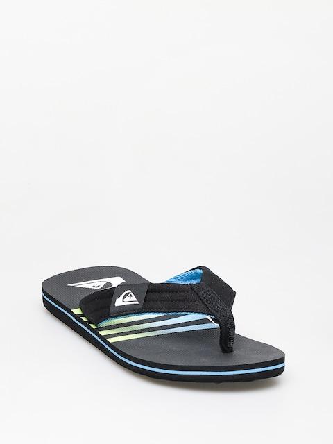 Quiksilver Molokai Layback Flip-flops (black/black/blue)