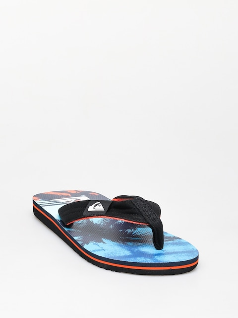 Quiksilver Molokai Layback Flip-flops (black/orange/blue)