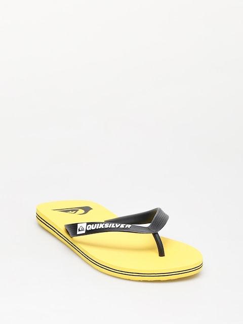 Quiksilver Molokai Flip-flops (black/yellow/yellow)