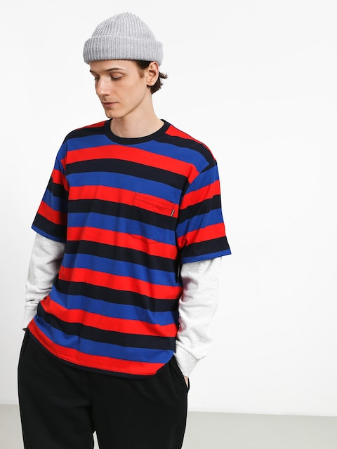 Primitive Two Fer Stripe Crew Sweatshirt (midnight)