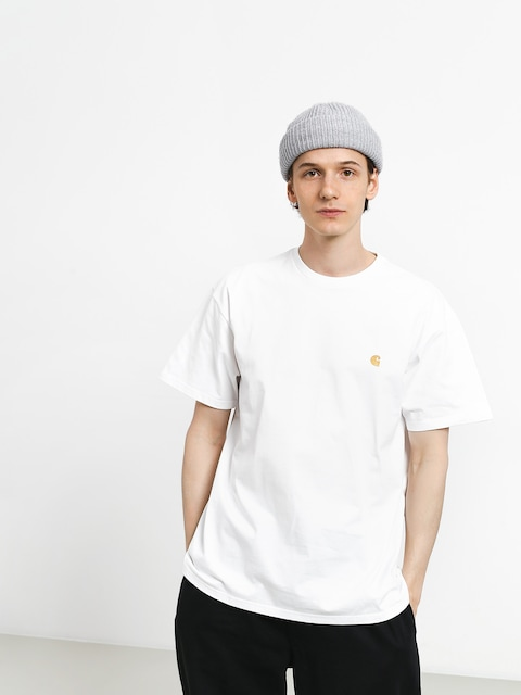 Carhartt T-shirt Chase (white/gold)