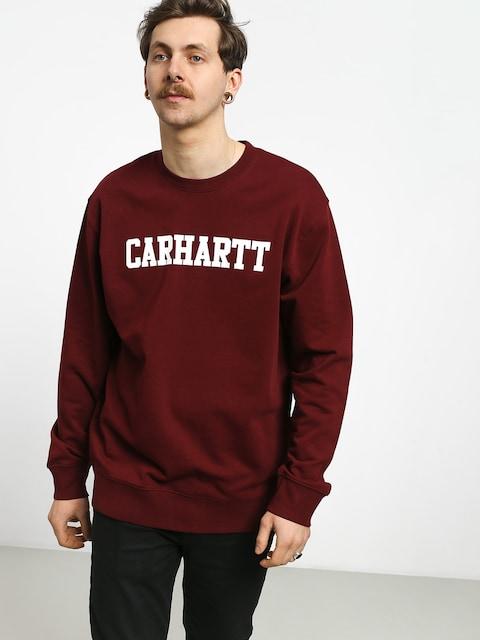 Carhartt WIP College Sweatshirt (cranberry/white)