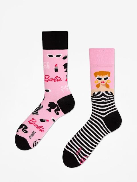 Many Mornings Barbie Socks (pink/black)