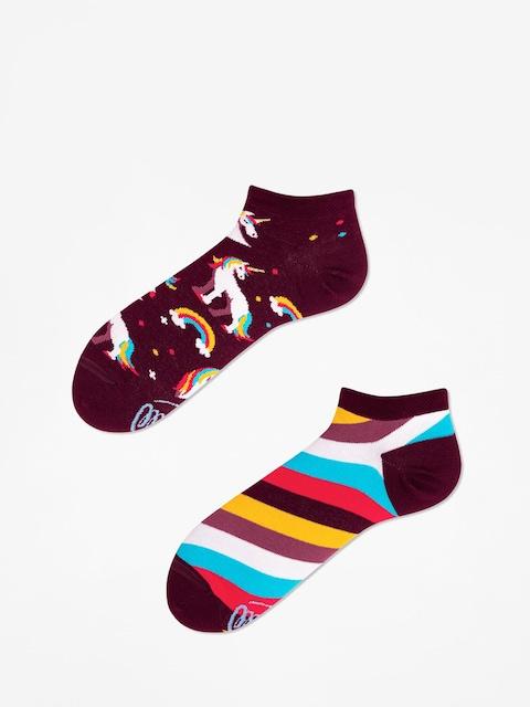 Many Mornings The Unicorn Low Socks (burgundy)