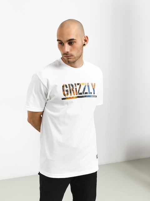 Grizzly Griptape Stamped Scenic T-shirt (white)