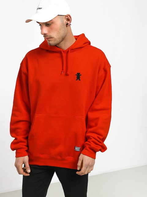 Grizzly Griptape Og Bear Embroidered HD Hoodie (safety orange)