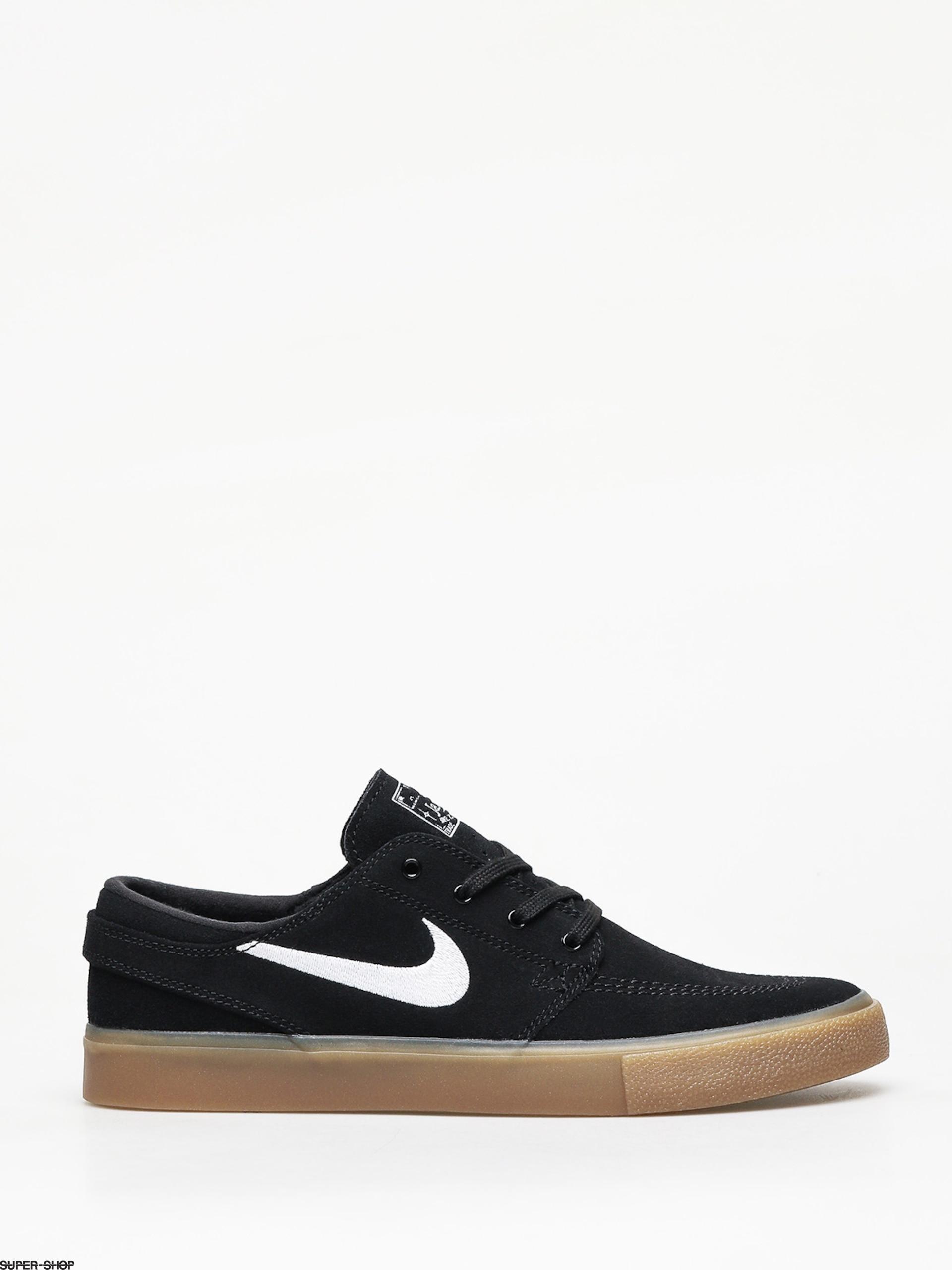 Nike SB Zoom Janoski Rm Shoes (blackwhite black gum light brown)