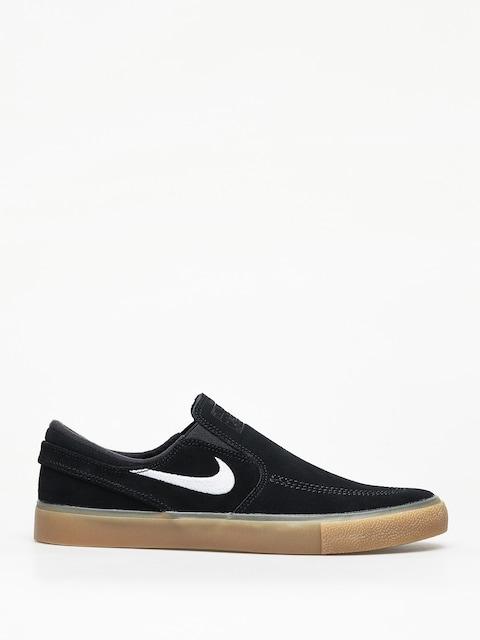 Nike SB Zoom Janoski Slip Rm Shoes (black/white black gum light brown)