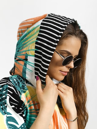 Roxy Poncho Pass This On Again Solid Hoodie Wmn (true black crazy victoria popsurf)