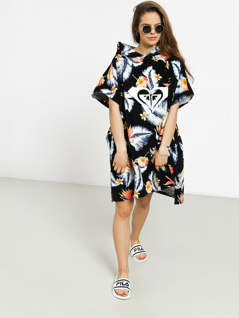 Roxy Poncho Pass This On Again Solid Hoodie Wmn