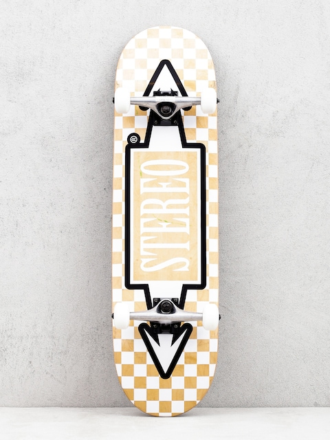 Stereo Arrow Square Skateboard (beige/white)