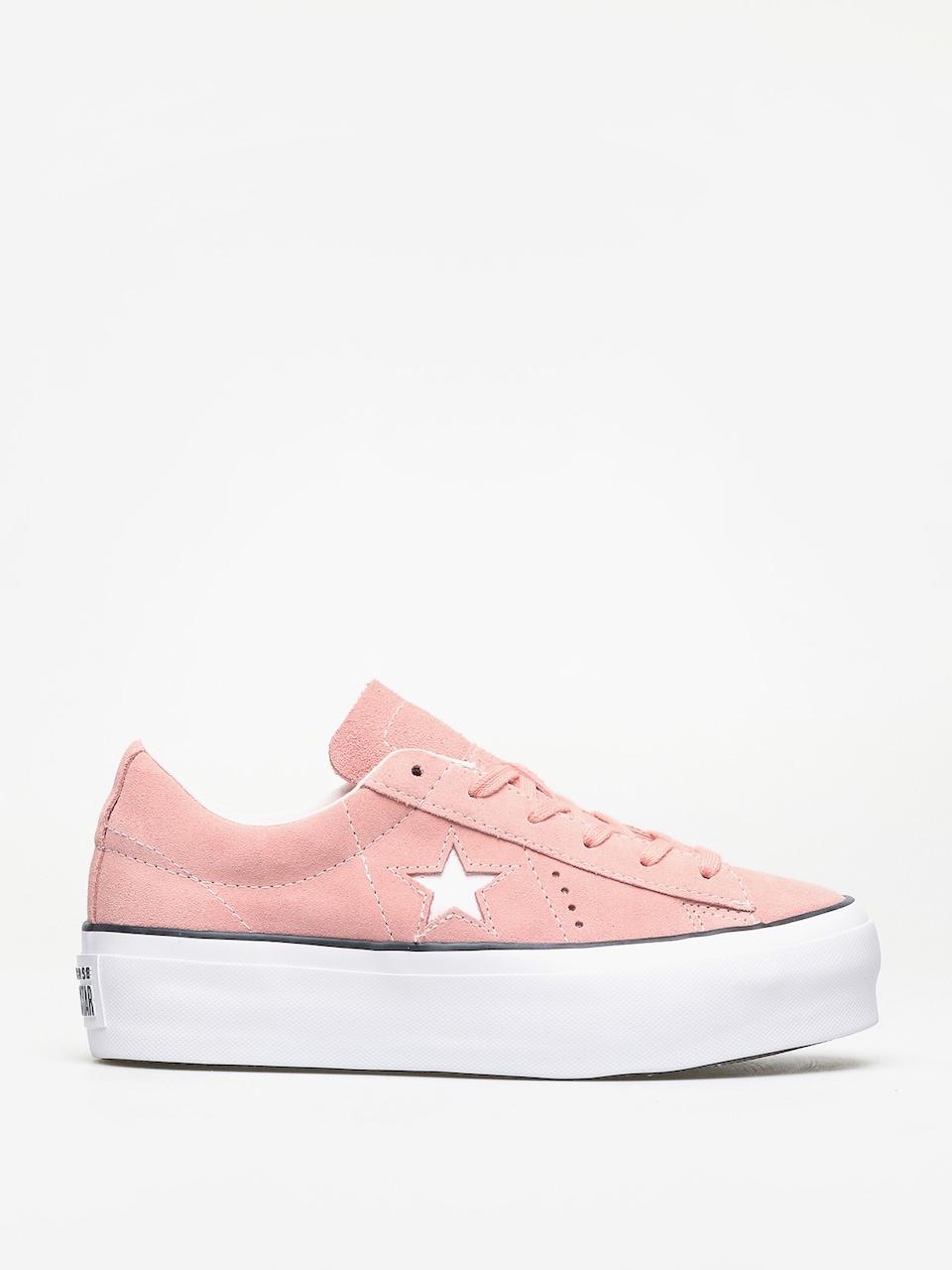 white converse one star platform