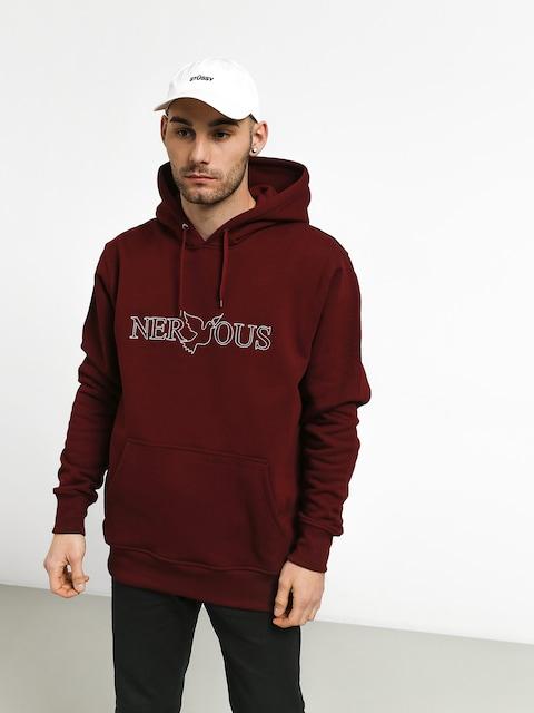 Nervous Classic HD Hoodie (maroon)