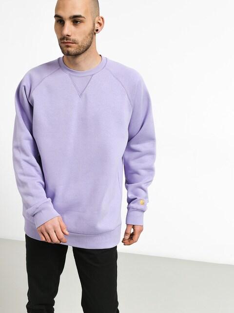 Carhartt WIP Chase Sweatshirt (soft lavender/gold)