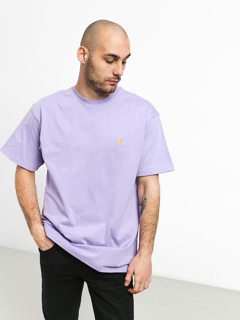 Carhartt WIP Chase T-shirt (soft lavender/gold)