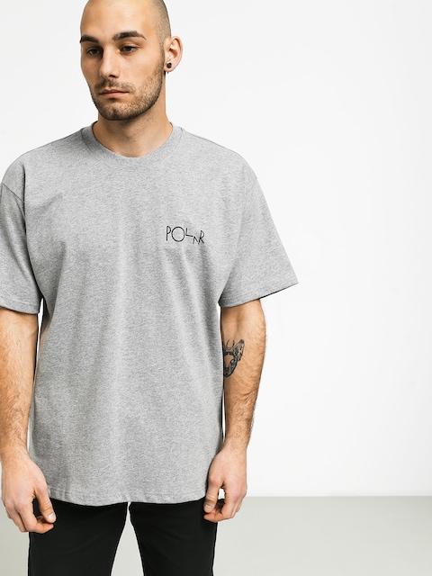 Polar Skate Fill Logo T-shirt (heather grey/black)