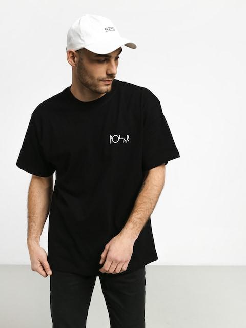 Polar Skate Stroke Logo T-shirt (black/white)