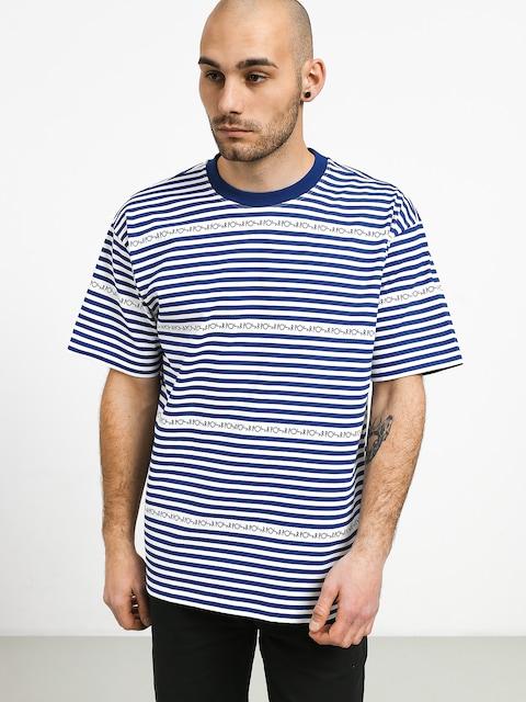 Polar Skate Stripe Logo T-shirt (dark blue)