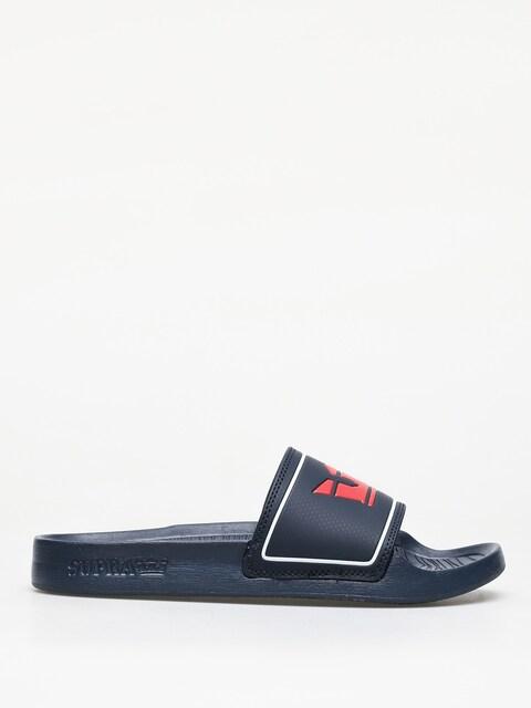 Supra Lockup Flip-flops (navy/red)