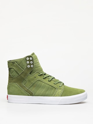 Supra Skytop Shoes (moss white)