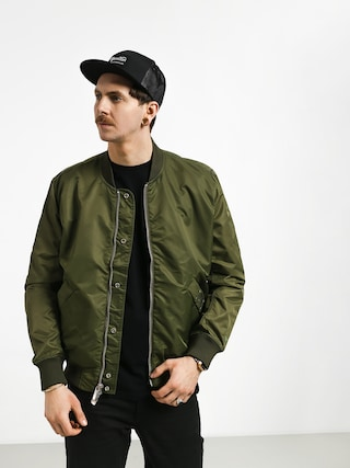 Diamond Supply Co. Panelled Bomber Jacket (olive)