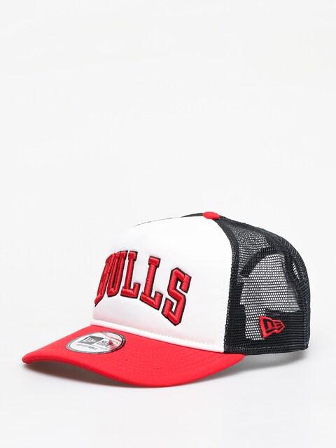New Era Colour Block Chicago Bulls ZD Cap (optic white/red)