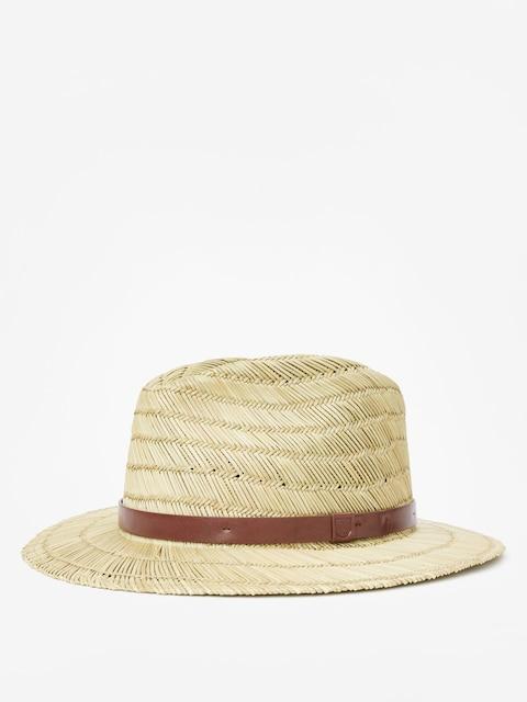 Brixton Messer Straw Fedora Hat (tan)