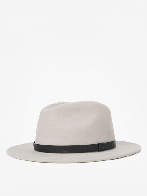 Brixton Messer Fedora Hat (moon grey)