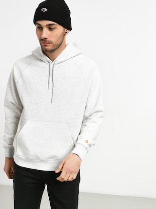 Carhartt WIP Chase Sweat HD Hoodie (ash heather/gold)