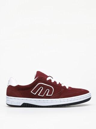 Etnies Lo Cut Shoes (burgundy/white)