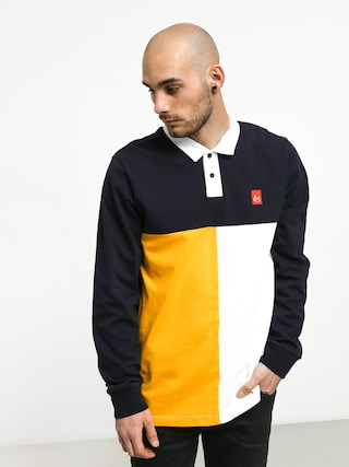 Es Split Polo t-shirt (navy)