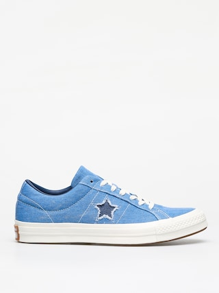 Converse One Star Ox Shoes (totally blue/navy/egret)