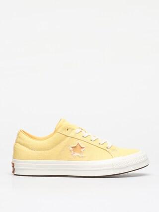 Converse One Star Ox Shoes (butter yellow/melon baller)