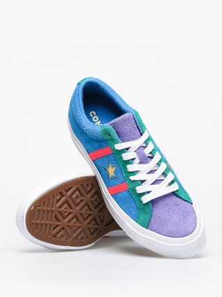 Converse One Star Academy Ox Shoes (totally blue/racer pink/white)