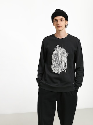 Element Night Shift Crew Sweatshirt (off black)