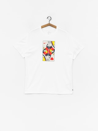 Nike SB Queen Card T-shirt (white/habanero red)