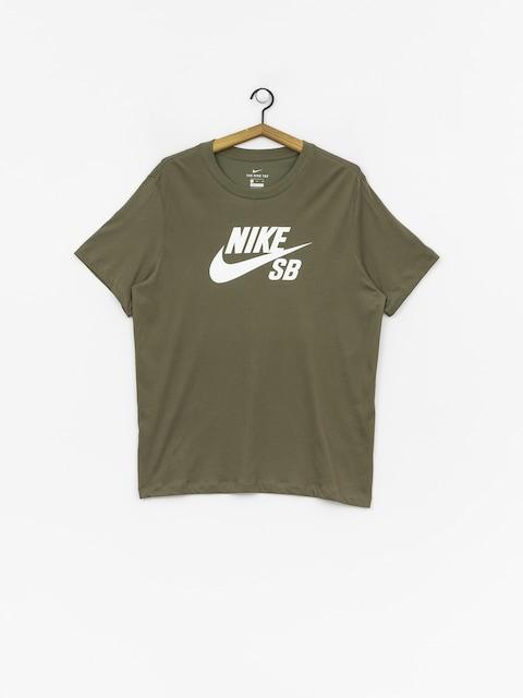 Nike SB Dri Fit T-shirt (medium olive/white)