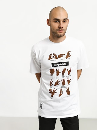MassDnm Gangsta Talk T-shirt (white)