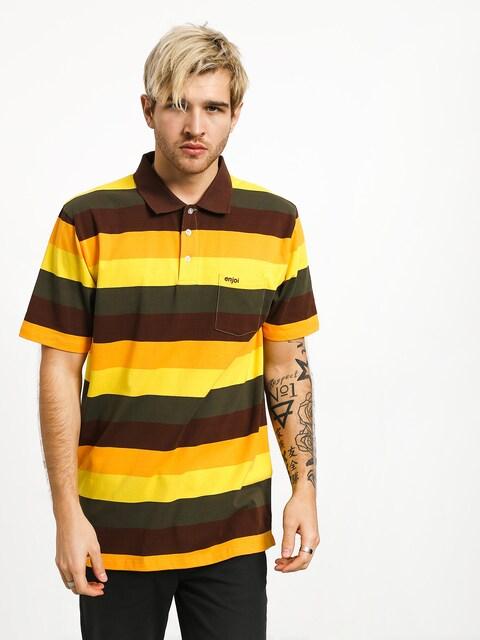 Enjoi Fakie Airwalk Polo t-shirt (brown)
