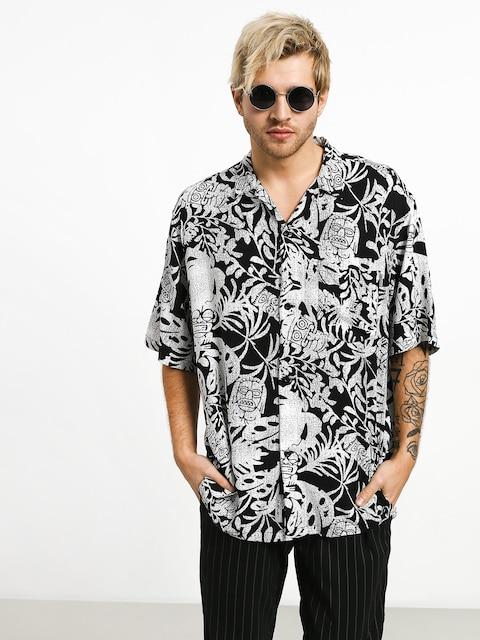 Carhartt WIP Tiki Mono Shirt (tiki mono print/black/wax)