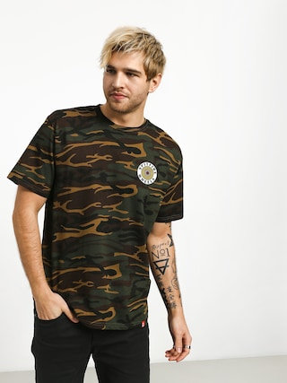 Spitfire Og Circle T-shirt (camo/white/yellow)