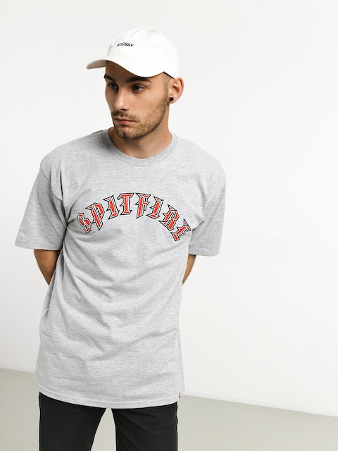 Spitfire Old E Fill T-shirt (grey/red)