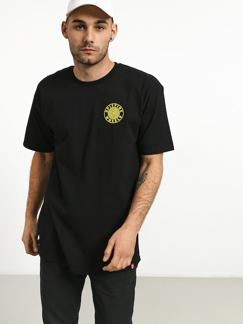 Spitfire Og Circle Outline T-shirt (black/yellow)